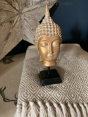 Free-standing Gold Thai Buddha Head Ornament Statue Figurine Figure Sculpture  • 12£