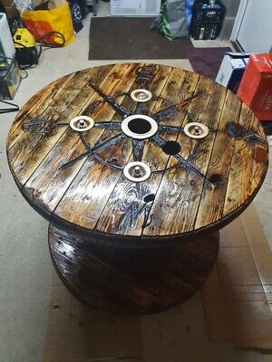Cable Drum Table Rustic Ship Effect • 280£
