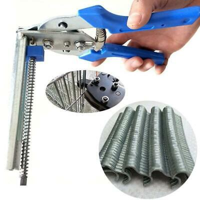 Hog Ring Pliers Tool 600pcs M Clips Chicken Mesh Cage Tools Wire S9B5 • 4.86£