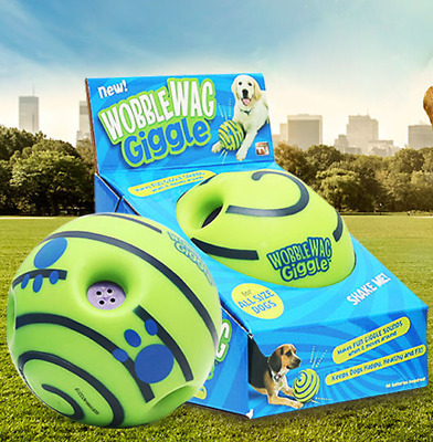£7.50 • Buy Ball Dog Play Pet Wobble Wag Giggle Playing Toys With Funny Sound No Harm 2021