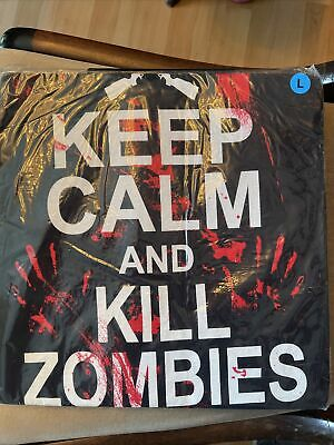 £9.99 • Buy Keep Calm And Kill Zombies T-shirt LARGE