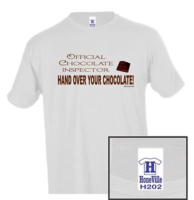 $17.97 • Buy Official Chocolate Inspector Hand Ove All HoneVille Unisex T-shirt Youth Adult
