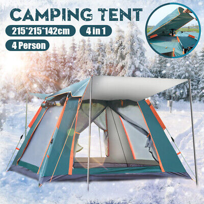 AU76.21 • Buy Automatic Quick Open Camping Outdoor Tent Waterproof Double Layer 4 Persons AUS