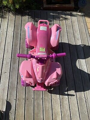 AU19 • Buy Kids Ride-on Barbie Mini Quad Bike Pink Children Toy 6V Battery Vehicle