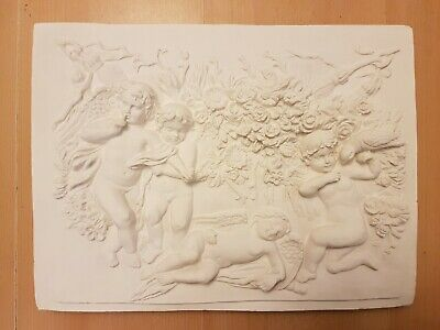 £30 • Buy 1 Architectural Large Cherub Angel Ornate Plaster Wall Plaque Very Detailed New