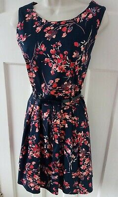 AU8.90 • Buy Apricot Floral Fit And Flare Dress Size 12