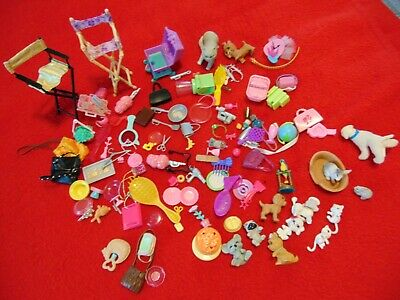 $ CDN30.33 • Buy BARBIE DOLL ACCESSORIES – Lot Of 113 Pcs. Dishes, Food, Purses, Crowns, Pets,etc