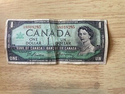 £1 • Buy Canada One Dollar Bank Note Circulated Canadian One Dollars - Ottawa 1967