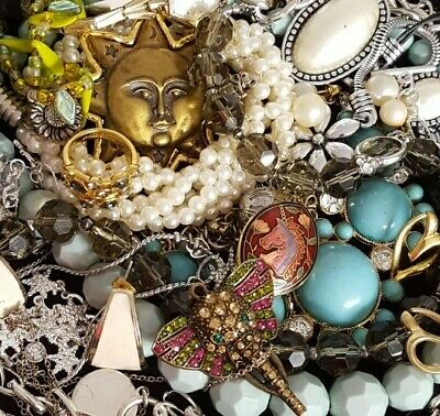 $ CDN58.07 • Buy Vintage Now NOT Junk Drawer Jewelry Lot Unsearched Untested Estate All Wear L915