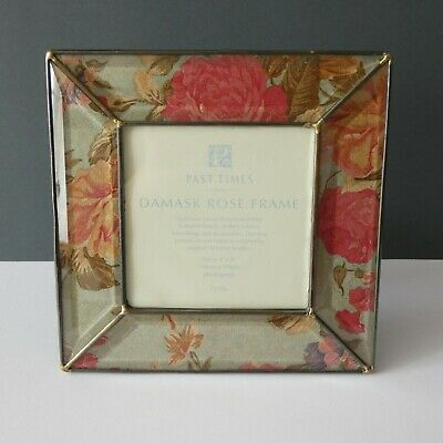 £7.99 • Buy Past Times Easel Back Square Photo Frame Damask Rose Victorian Textile Inspired