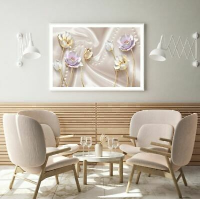 AU9.67 • Buy  Colorful 3D Abstract Floral Art Print Premium Poster High Quality Choose Sizes