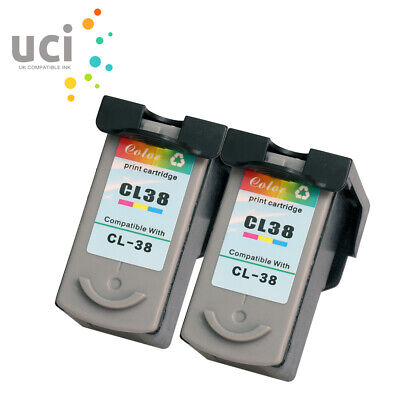 £23.36 • Buy 2 Color Ink Cartridge For Canon CL38 IP1800 IP2500 MP190 MP210 MP220 MP470 MX300