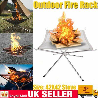 £15.59 • Buy Portable Mesh Fire Pit Folding Fire Pit Bonfire Stand For BBQ Outdoor Camping