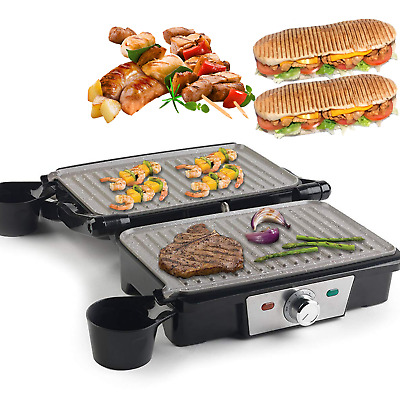 £29.99 • Buy 180° Fold-Out Electric Grill Griddle Hot Plate Machine Panini Press Non-stick UK