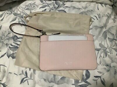 AU49 • Buy Oroton Estate Clutch Bag Baby Pink With Purse White