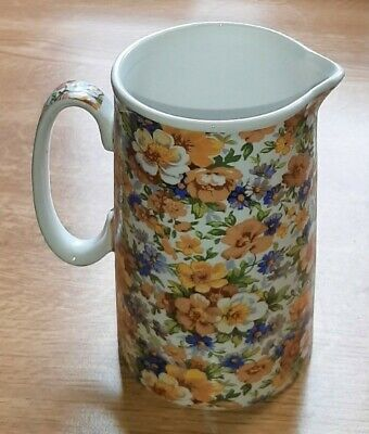 £9.99 • Buy Heron Cross Pottery 1876 Floral Jug Lovely Condition 15cm High