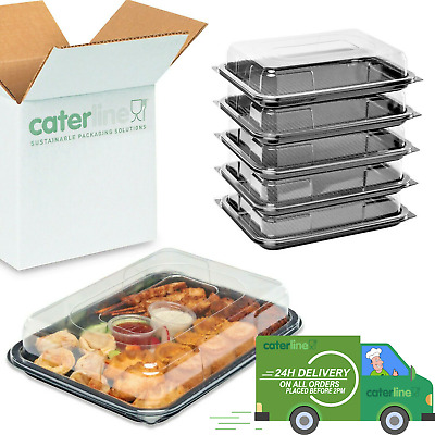 £10.99 • Buy Small Catering Platters/Trays & Lids X 5 | For Sandwiches, Buffets And Parties