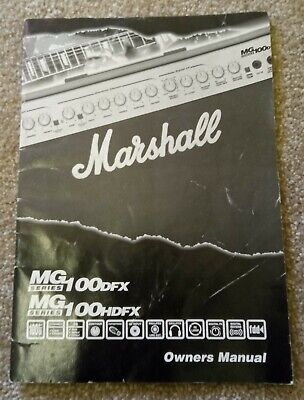 £5.25 • Buy Marshall MG 100 (H)DFX Amplifier Owners Manual.