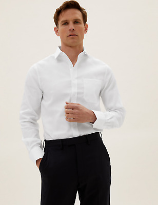 £8.49 • Buy M&S Collection Slim Fit Non Iron Twill Shirt RRP £29.50