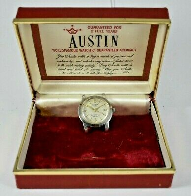 $ CDN60.49 • Buy Vintage Austin Automatic 25 Jewels AS1361N Wrist Watch W/Original Box Runs Lot.8