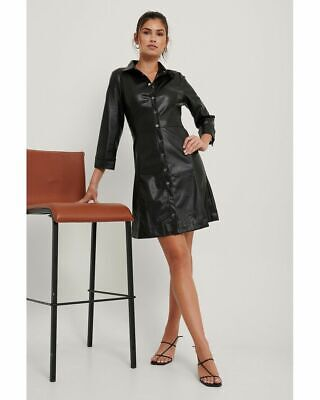 £15 • Buy Faux Leather Dress By MANGO - Size Small