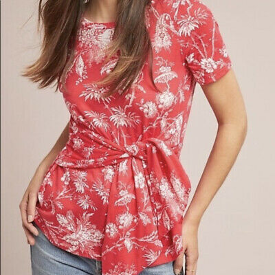 $ CDN30.33 • Buy Anthropologie Maeve Sherbrooke Red Top Size L