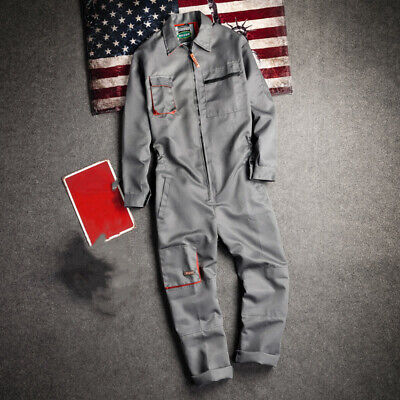 $41.35 • Buy Mens Japanese Workwear Coverall Overall Work Jumpsuit Boilersuit Uniform Pants