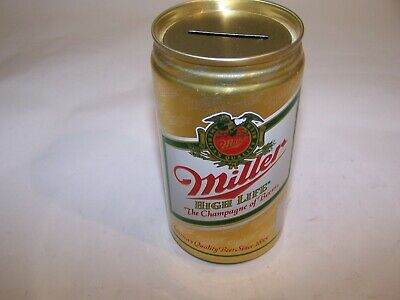 $3.95 • Buy VINTAGE 12oz MILLER HIGH LIFE COIN BANK BEER CAN MILLER BREWING CO. MILWAUKEE WI