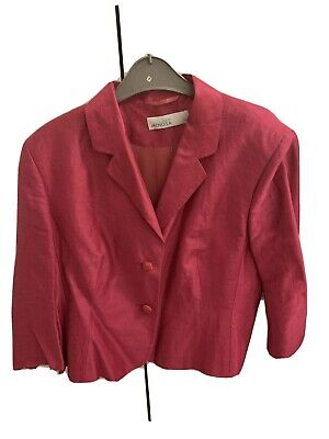 £3 • Buy Ladies Pink  Jacket By Mimosa Size 16. Three Quarter Length Sleeves.