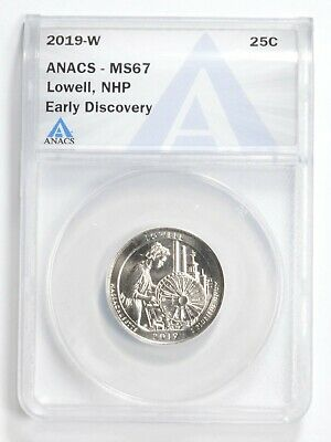 $ CDN6.65 • Buy 2019-W Lowell Quarter ANACS MS 67 Early Discovery West Point *0593