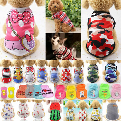 £2.56 • Buy Cute Pet Dog Cat Clothes Summer Puppy T Shirt Clothing Small Dog Chihuahua Vest&