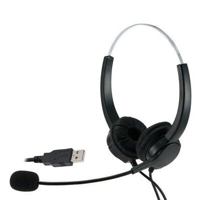 £14.31 • Buy Call Center Headset USB Wired Offical Telephone Headphone With Microphone