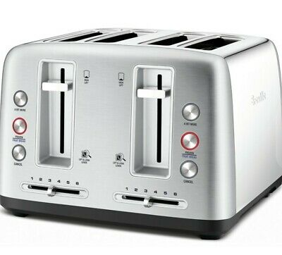 AU107 • Buy Breville The Toast Control 4 Slice Toaster - Stainless Steel - New And Freepost
