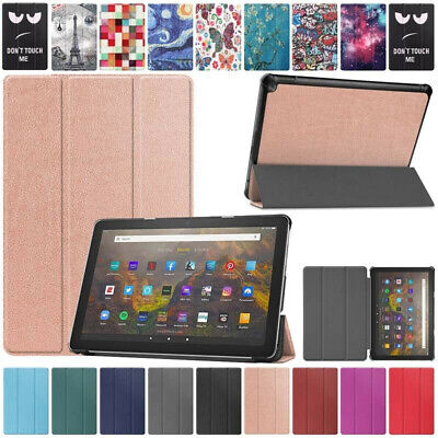 £7.99 • Buy For Amazon Kindle Fire HD 10 Plus 2021 11th Gen Pattern Leather Smart Case Cover