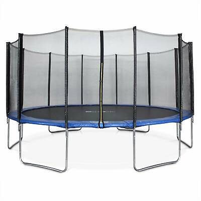£389 • Buy 16ft Trampoline With Safety Net - 3 Colours - PRO Quality EU Standards