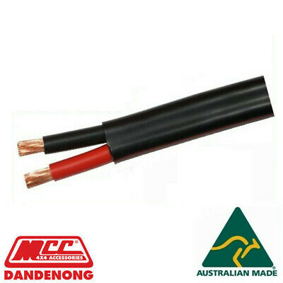 AU55 • Buy 10m METER 8mm 8 B&S TWIN CORE DOUBLE INSULATED CABLE COPPER 12V WIRE DC-DC