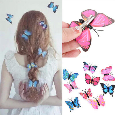 $ CDN1.73 • Buy 5 PCS Butterfly Hair Clips Bridal Hair Accessories Wedding Photography CostY`cc