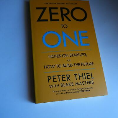 AU26.21 • Buy ZERO TO ONE NOTES ON STARTUPS OR How To Build The Future Business Self-Help RARE