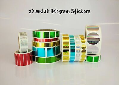 £9.95 • Buy Personalized Custom Hologram Labels Stickers Warranty Tamper Proof