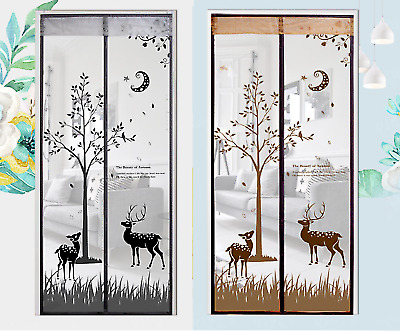 £13.99 • Buy Magic Door Curtain Mesh Magnetic Fastening Hands Free Insect Fly Screen UK