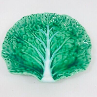 £0.99 • Buy Vintage Casa Pupo Cabbage Leaf Dish Plate  Green