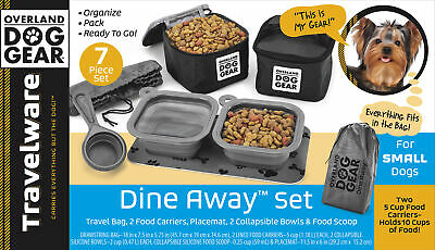 $ CDN66.37 • Buy Mobile Dog Gear Dine Away Dog Travel Bag For Small Dogs With Dog Bowl Black
