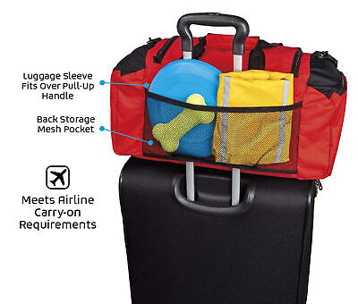 $ CDN102.65 • Buy Mobile Dog Gear Week Away Duffel Travel Bag For Med And Large Dogs Multicoloured