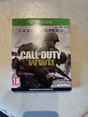 £3.50 • Buy Call Of Duty WWII (WW2) Pro Edition Xbox One Game GREAT CONDITION (steel-book)