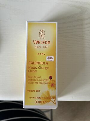£0.99 • Buy Weleda Organic Calendula Baby Nappy Change Cream 30ml For Delicate Baby Skin