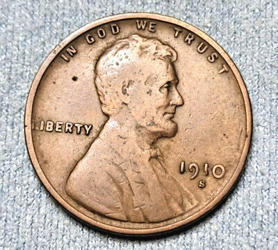 $ CDN1.26 • Buy 1910 S Lincoln Cent Circulated Wheat Penny!