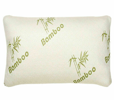 Luxury Bamboo Memory Foam Pillow Anti-Bacterial Orthopedic Neck & Head Support • 11.99£