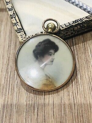 £3.60 • Buy Antique Edwardian Rolled Gold Double Sided Locket/ Pendant Rare Collectible 1900