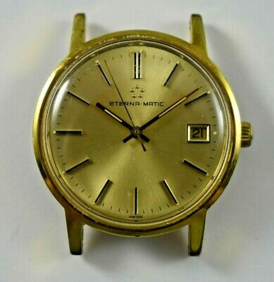 $ CDN181.37 • Buy Vintage Eterna-Matic Automatic Date 25 Jewels 12824 Wrist Watch Runs Lot.e
