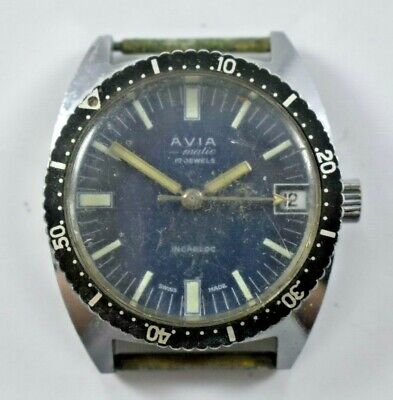 $ CDN36.26 • Buy Vintage Swiss Avia-Matic Automatic 17J 5ATU Skindiver Wrist Watch Runs Lot.9